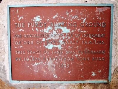 The Purdy Burying Ground Marker image. Click for full size.