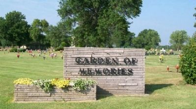 Garden of Memories North Entrance Sign image. Click for full size.