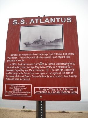 S.S. Atlantus Marker image. Click for full size.