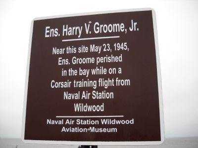 Ens. Harry V. Groome, Jr. Marker image. Click for full size.