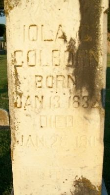 Iola Colborn Grave Marker image. Click for full size.