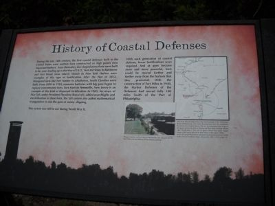 History of Coastal Defenses Marker image. Click for full size.