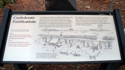 Confederate Fortifications Marker image. Click for full size.