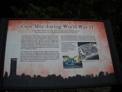 Cape May during World War II Marker image. Click for full size.
