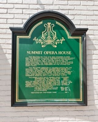 Summit Opera House Marker image. Click for full size.