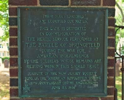 The Battle of Springfield Marker image. Click for full size.