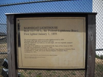 Barnegat Lighthouse Marker image. Click for full size.