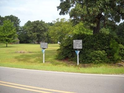 Markers on the Bentonville Battlefield image. Click for full size.