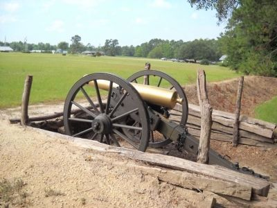 Cannon at Federal Earthworks image. Click for full size.