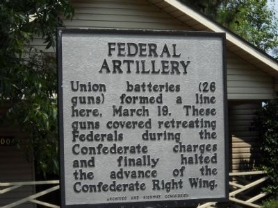 Federal Artillery Marker image. Click for full size.