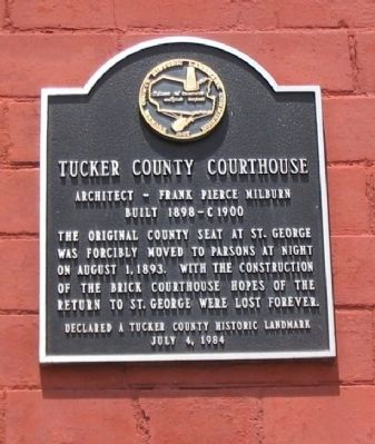 Tucker County Courthouse Marker image. Click for full size.