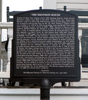 The Bronson House Marker image. Click for full size.