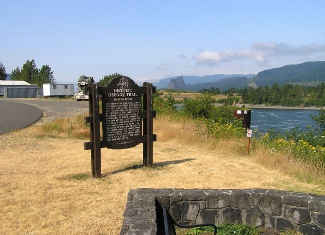 Wide view of the Beacon Rock Marker image, Touch for more information
