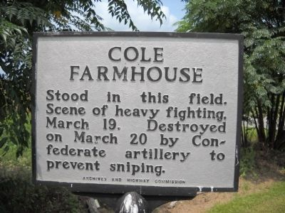 Cole Farmhouse Marker image. Click for full size.