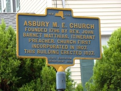 Asbury M. E. Church Marker image. Click for full size.
