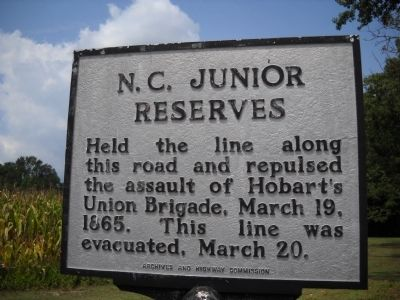 N. C. Junior Reserves Marker image. Click for full size.