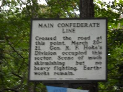 Main Confederate Line Marker image. Click for full size.