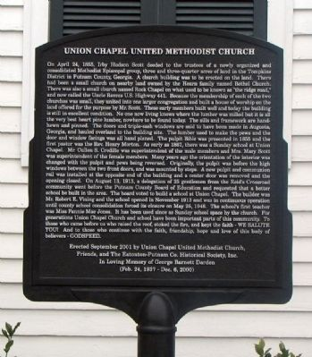 Union Chapel United Methodist Church Marker image. Click for full size.