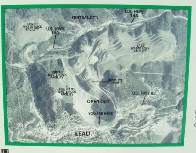 Homestake Open Cut Mine Marker image. Click for full size.
