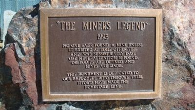 "Nearby 1995 Monument: ""The Miner's Legend"" image. Click for full size."