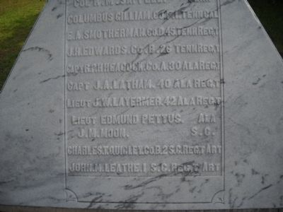 Soldiers' Names on Monument image. Click for full size.