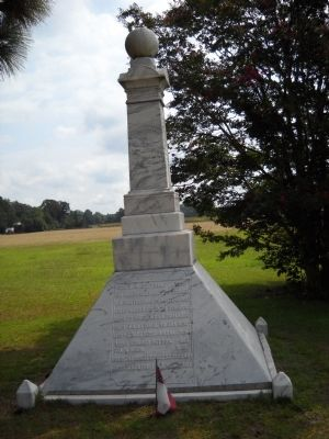 Marker on the Bentonville Battlefield image. Click for full size.