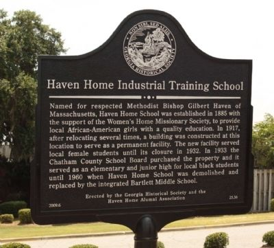 Haven Home Industrial Training School Marker image. Click for full size.