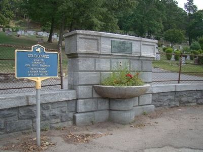 Cold Spring Marker and Water Fountain image, Touch for more information