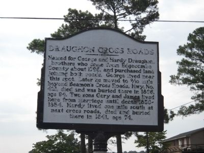 Draughon Cross Roads Marker image. Click for full size.