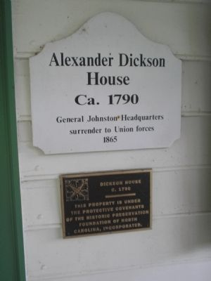 Alexander Dickson House Marker image. Click for full size.