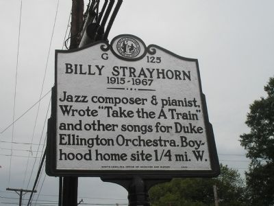 Billy Strayhorn Marker image. Click for full size.