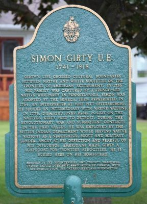 Simon Girty U.E. Marker image. Click for full size.