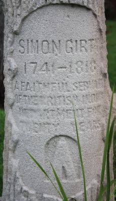 Simon Girty's Gravestone image. Click for full size.