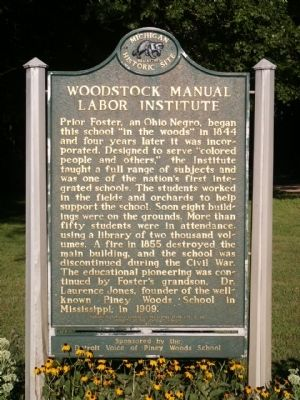Woodstock Manual Labor Institute Marker image. Click for full size.