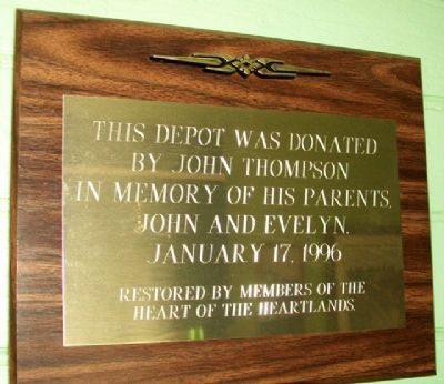 Missouri Pacific Depot Donor Marker image. Click for full size.