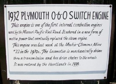 1932 Plymouth 0-6-0 Switch Engine Marker image. Click for full size.