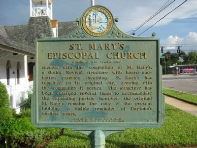 St. Mary's Episcopal Church Marker reverse image. Click for full size.