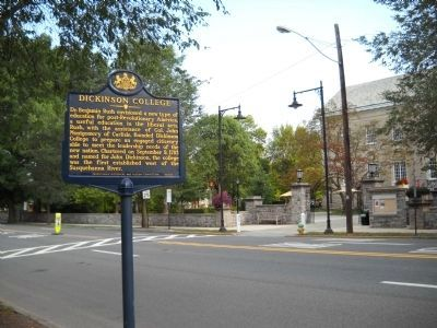 Dickinson College Marker image. Click for full size.