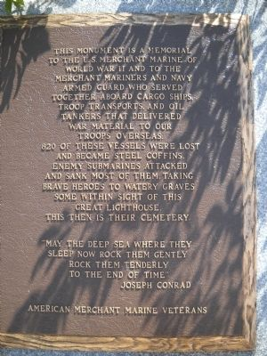 U.S. Merchant Marine WW II Memorial Marker image. Click for full size.