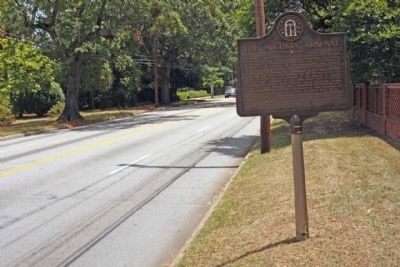 The Augusta Arsenal Marker, looking east along Walton Way image. Click for full size.