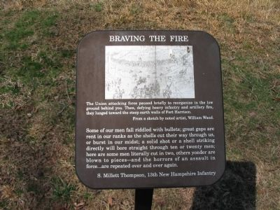 Braving the Fire Marker image. Click for full size.