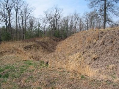 Ditch in front of Confederate Works image. Click for full size.