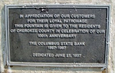 Columbus State Bank 100th Anniversary Marker image. Click for full size.