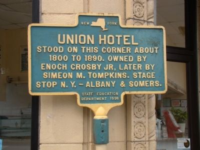 Union Hotel Marker image. Click for full size.