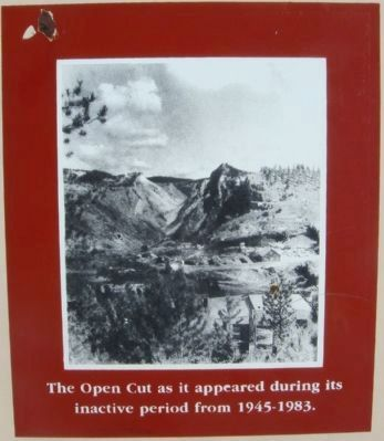 The Homestake Gold Mine and Open Cut Marker image. Click for full size.