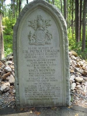 Colonel Patrick Ferguson Memorial Marker image. Click for full size.