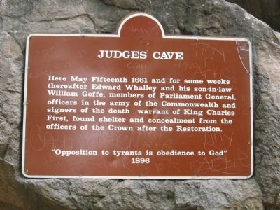 Judges Cave Marker image. Click for full size.