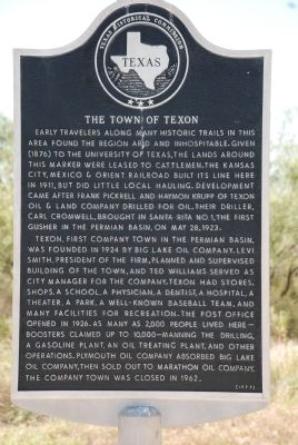 The Town on Texon Marker image. Click for full size.