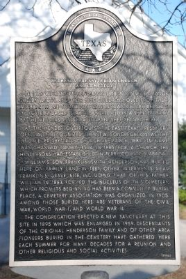 Bethesda Presbyterian Church and Cemetery Marker image. Click for full size.