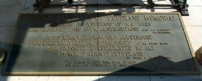 Cherokee County WWI Veterans Memorial Marker image. Click for full size.